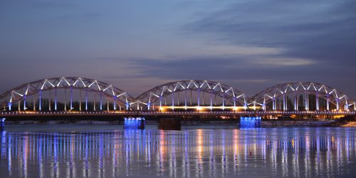 Dzelzceïa tilts pâr Daugavu.